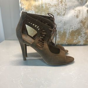 Dolce Vita Suede Stiletto Lace Up Heels